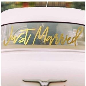 Two's Company Just Married Window Cling, Gift Tube